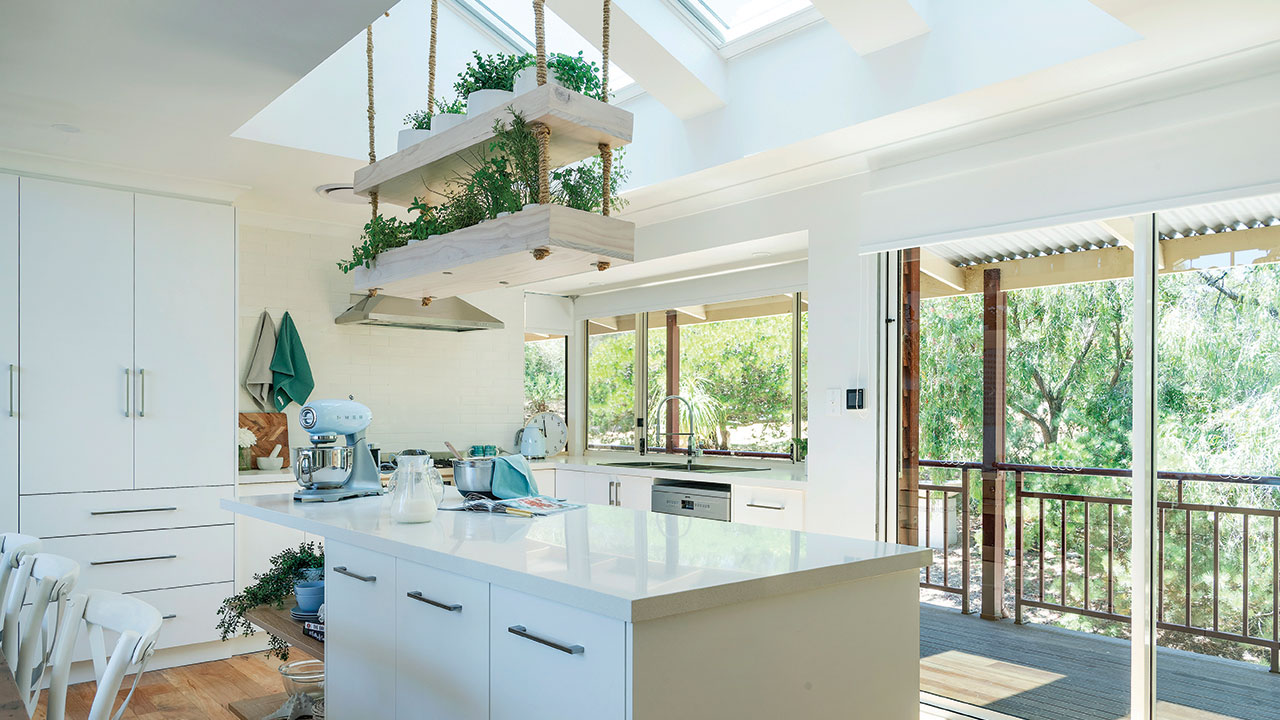 Kitchen Island Ideas With Featured Hanging Plants Australia