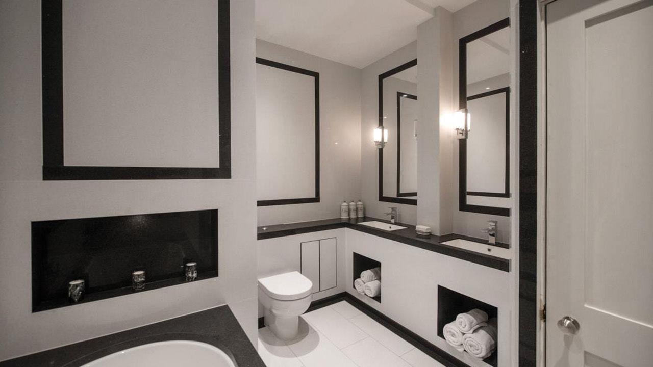 Black and White Bathroom Renovation Sydney Northern Beaches